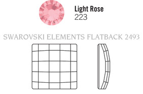 Swarovski 2493# - 12mm Light Rose, M, 96pcs, Hot-fix, (6-8)