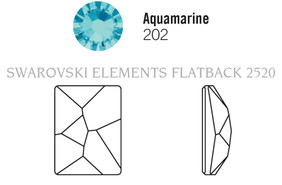 Swarovski 2520# - 14x10mm Aquamarine, F, 144pcs, (22-6) Foiled
