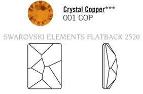 Swarovski 2520# - 14X10mm Crystal, COPPER, F, 144pcs, (22-6) Foiled