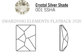 Swarovski 2520# - 14X10mm Crystal, SSHA, F, 144pcs, (22-6) Foiled
