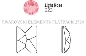 Swarovski 2520# - 14X10mm Light Rose, F, 144pcs, (22-6) Foiled