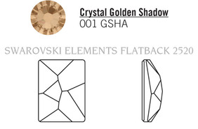 Swarovski 2520# - 20x14mm Crystal, GSHA, F, 48pcs, (16-9)