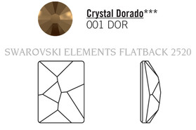 Swarovski 2520# - 8X6mm Crystal Dorado, F, 288pcs, (22-7) Unfoiled
