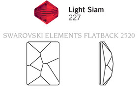 Swarovski 2520# - 8x6mm Light Siam, F, 288pcs, (22-7) Foiled
