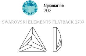 Swarovski 2720# - 9mm Aquamarine, M, HF, 180pcs, (6-8)