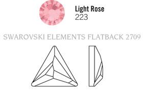 Swarovski 2720# - 9mm Light Rose, M, HF, 180pcs, (6-8)