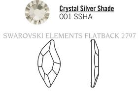 Swarovski 2797# - 10x5mm Crystal, SSHA, F, 180pcs, (6-11) Foiled