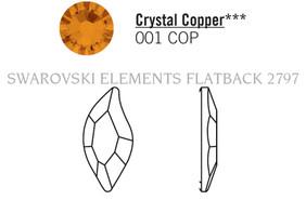 Swarovski 2797# - 8x4mm Crystal, COPPER, M, HF, 240pcs, (6-11)