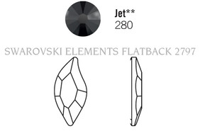 Swarovski 2797# - 8x4mm Jet, 240pcs, (8-5) Unfoiled
