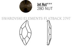 Swarovski 2797# - 8x4mm Jet, NUT, 240pcs, (8-5) Unfoiled