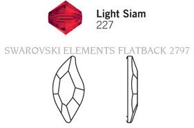 Swarovski 2797# - 8x4mm Light Siam, F, 240pcs, (8-5) Foiled