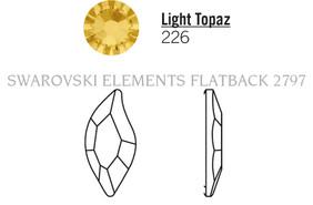 Swarovski 2797# - 8x4mm Light Topaz, M, HF, 240pcs, (6-11)