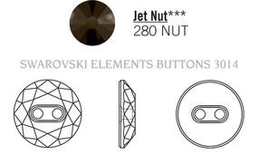 Swarovski 3014# - 14mm Jet, NUT, 36pcs, (8-11) Unfoiled