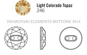 Swarovski 3014# - 30mm Light Colorado Topaz, M, 12pcs, (8-11) Unfoiled