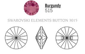 Swarovski 3015# - 10mm Burgundy, M, 72pcs, (8-2) Unfoiled