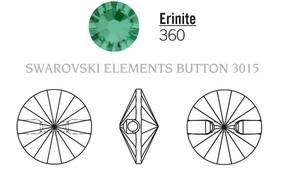 Swarovski 3015# - 14mm Erinite, M, 36pcs, (7-6) Unfoiled