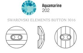 Swarovski 3016# - 12mm Aquamarine, M, 48pcs, (8-9)