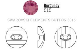 Swarovski 3016# - 12mm Burgundy, M, 48pcs, (8-9) Unfoiled