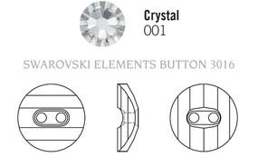 Swarovski 3016# - 14mm Crystal, M, 36pcs, (8-12) Unfoiled