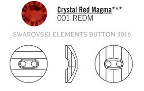 Swarovski 3016# - 14mm Crystal, REDM, M, 36pcs, (8-6) Unfoiled