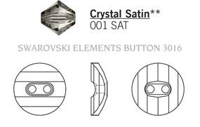 Swarovski 3016# - 14mm Crystal, SATIN, M, 36pcs, (7-9) Unfoiled