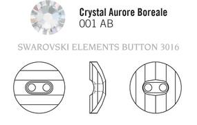 Swarovski 3016# - 160 Crystal, AB, 24pcs, (33-5)