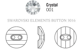 Swarovski 3016# - 16mm Crystal, M, 24pcs, (7-3)