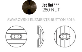 Swarovski 3016# - 16mm Jet, NUT, 24pcs, (8-6)