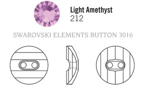 Swarovski 3016# - 16mm Light Amethyst, M, 24pcs, (7-3)