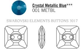 Swarovski 3017# - 14mm Crystal, MET.BLUE, M, 36pcs, (7-6) Unfoiled
