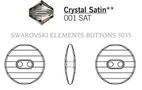 Swarovski 3035# - 14mm Crystal, SATIN, M, 36pcs, (8-6)