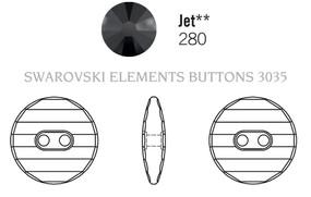Swarovski 3035# - 14mm Jet, 36pcs, (7-6)