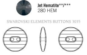 Swarovski 3035# - 14mm Jet, HEMAT, 36pcs, (7-9)