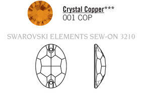 Swarovski 3210# - 10X7mm Crystal, COPPER, F, 72pcs, (18-11) Foiled