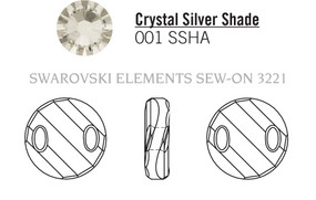 Swarovski 3221# - 18mm Crystal, SSHA, 72pcs, (7-10)