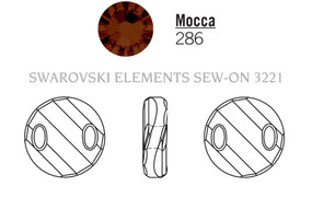 Swarovski 3221# - 18mm Mocca, 72pcs, (19-12) Unfoiled