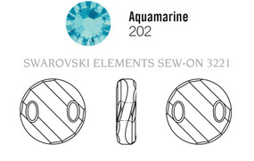 Swarovski 3221# - 28mm Aquamarine, 24pcs, (19-11) Unfoiled