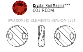 Swarovski 3221# - 28mm Crystal, REDM, 24pcs, (19-11)