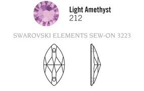 Swarovski 3223# - 12x6mm Light Amethyst, F, 48pcs, (19-10) Foiled