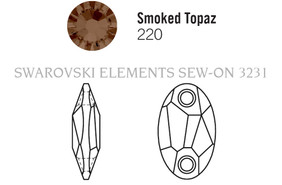 Swarovski 3231# - 23x14mm Smoked Topaz, 36pcs, (19-4) Unfoiled