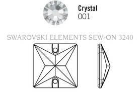 Swarovski 3240# - 16mm Crystal, SAGE, F, 72pcs, (19-6) Foiled
