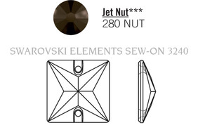 Swarovski 3240# - 22mm Jet, NUT, 24pcs, (19-6) Unfoiled