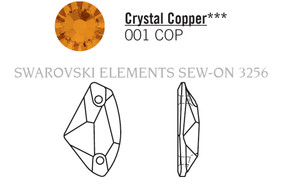 Swarovski 3256# - 27X16mm Crystal, COPPER, F, 30pcs, (19-8)