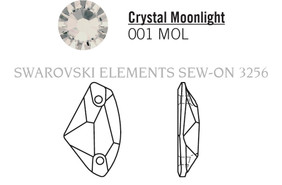 Swarovski 3256# - 27X16mm Crystal, MOL, F, 30pcs, (19-8)