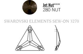 Swarovski 3270# - 16mm Jet, NUT, 72pcs, (19-3) Unfoiled