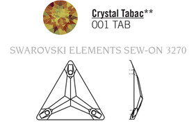 Swarovski 3270# - 22mm Crystal, TABAC, F, 24pcs, (19-3) Foiled