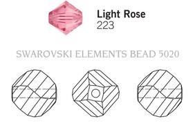 Swarovski 5020# - 10mm Light Rose, 144pcs, (23-12)