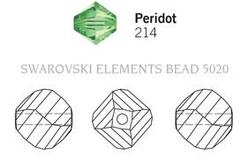 Swarovski 5020# - 10mm Peridot, 144pcs, (23-11)