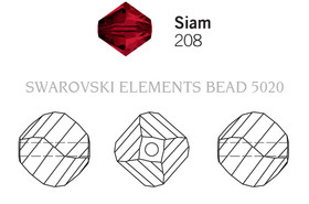 Swarovski 5020# - 3mm Siam, 1440pcs, (23-7)