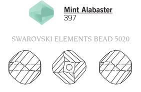 Swarovski 5020# - 6mm Mint Alabaster, 360pcs, (11-1)